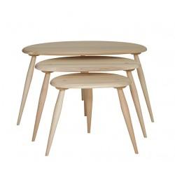 Tavolino Originals Elm & Beech Nest of Tables Ercol img1